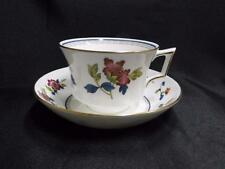 """Wedgwood Chinese Flowers, Pink Flowers on Rim: Cup & Saucer Set (s), 2 1/2"""" Tall"""