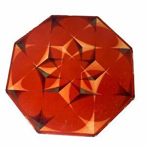 1968 Springbok Okta Puzzle Hypercube Octagonal Puzzle 500 pieces Red Complete