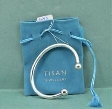 Vintage Tisan Unisex Hollow Sterling Silver torq Bangle Full Hallmarks in bag
