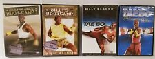 (4) TaeBo Billys Blanks Workouts TAE BO Bootcamp + Cardio + FREE Fitness Bonuses