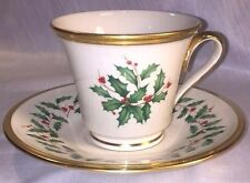 Lenox Footed Cup and Saucer - Holiday