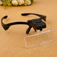 LED Head Light Lamp Magnifier Headband Headset Magnifying Glass Loupe 5 x Lens