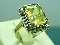 Turkish Handmade Jewelry 925 Sterling Silver Citrine Stone Women Ring Sz 8