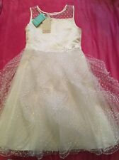 💕Moonsoon Girls Ivory Party/bridesmaid Dress Size 11 Yrs Brand New With Tags!💕