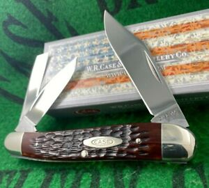 case xx 6380 red bone whittler knife 1972 8 dot unused strong snap solid clean