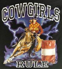 T-Shirt #474 COWGIRLS RULE, Cowboy Pferd Rodeo Bull USA Quarter HORSE