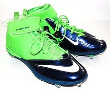 New Nike Lunarlon Superbad Pro Men's Green & Navy Baseball Cleats Size 15