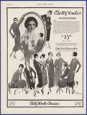 Vintage 1924 BETTY WALES Dresses Dressmakers Fashion Décor Ephemera 20s Print Ad
