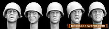 Hornet 1/35 5x Heads with US M1 Plain Steel Helmets #HUH01