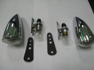MGTD, MGTF, Morgan 4/4 Flat Rad, NOS Lucas sidelamps 52134 wing fender lamps