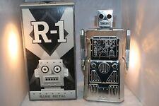 Rare R-1 Rocket USA Bare Metal Robot Skirted BO Tin Toy MIB Working Mint in Box