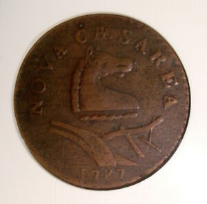 1787 New Jersey Colonial Copper, Outlined Shield NGC XF40