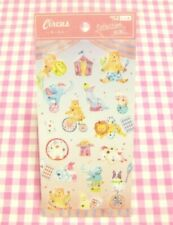 SYNAPSE JAPAN / Animal Circus Sticker Sheet / Made in Japan Dog Bear Cat Rabbit