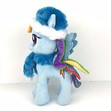 "My Little Pony Rainbow Dash 10"" Plush Winter Hat and Scarf Blue MLP"