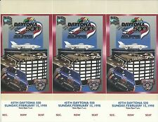 NASCAR Racing 1998 Daytona 500 Uncut Ticket Stub Sheet - Dale Earnhardt Win