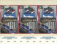 NASCAR Racing 1998 Daytona 500 Uncut Ticket Stub Sheet - Dale Earnhardt Win