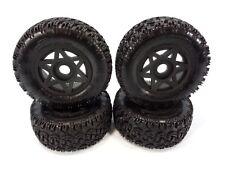 4 New Arrma Senton 6s BLX Dboots Sidewinder 2 SC Tires & 17mm Black Wheels