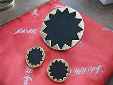 Ring AND Earrings SET, House of Harlow 1960, 14K Gold Plate and BLACK LEATHER
