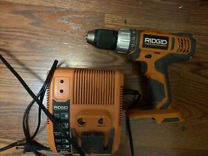 Ridgid Battery Charger Rapid  18V Charger R840091 Used & R86006 1/2 Drill