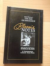 NEW, EDITH WHARTON. THE AGE OF INNOCENCE, BLOOM'S NOTES, HAROLD BLOOM.