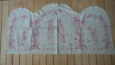 Antique Signed & Dated 1890, TURKEY RED EMBROIDERED Runner Doily, Kate Greenway