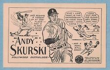 1947 Signal Gasoline PCL Andy Skurski Hollywood Stars Pacific Coast League