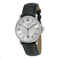 Certina DS Caimano Automatic Silver Dial Black Leather Mens Watch