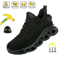 Mens Work Safety Shoes Indestructible Steel Toe Cap Boots Hiking Sports Sneakers