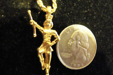 bling gold plated majorette band pendant charm rope chain hip hop necklace hot