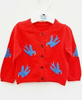 Baby Girl Cardigan New Ex M&S Red Age 3 6 9 12 18 24 Months RRP £14