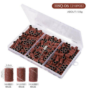 Nail Sanding Bands Set For Nail Manicure Pedicure Drill Bits File 180# 120# 80#
