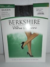 Berkshire Queen Ultra Sheers Control Top Pantyhose Hosiery Fantasy Black 5X 6X