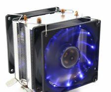 Blue LED CPU Cooler Fan Heatsink for Intel/AMD