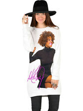 Whitney Houston Organic Cotton Sweatshirt Sweater Dress Made In USA. S, M, L, XL