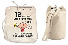 The Years Have Been Kind 18th Birthday Present Duffle Backpack Bag - Funny Gift