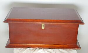 Vintage Solid Cherry Wood  Dresser Box. Centerpiece For Table,  Keepsake  21x12""