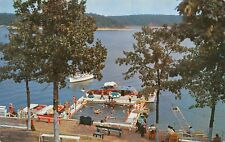 Lake of the Ozarks Missouri~Grand Glaize Arm Floating Swimming Pool~Boats~1950s