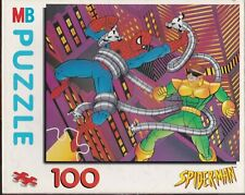Vintage MB Hasbro SPIDERMAN & DR OCTOPUS 100 Piece Jigsaw Puzzle Comic Superhero