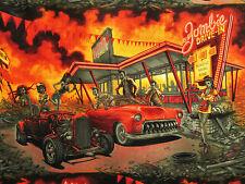 Zombie Drive-In Retro Apocalypse Alexander Henry Fabrics #4839 By the Yard