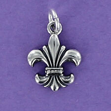 Fleur de Lis Charm Sterling Silver 925 for Bracelet New Orleans Saints