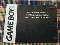 Gameboy Precautions Booklet - Nintendo Game Boy Advance - Manual - C/AGB-USA-1