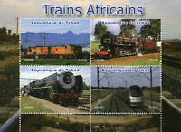 Chad 2014 MNH African Trains Steam Engines Locomotives 4v M/S Rail Stamps