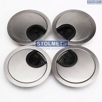 80mm metal round desk cable tidy outlet grommet insert wire hole port surface