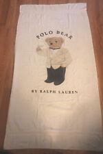 "Vintage RALPH LAUREN Polo Bear Bath Beach Towel 90s RL 68"" X 36"""