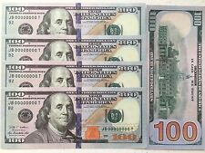 PLAY CASH REAL SIZE AS USA MONEY 5 PCS NEW $100 PROP FAKE MOVIE MONEY BANKNOTES