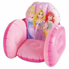 Brand New Disney Princess Kids Girls Inflatable Flocked Playroom Bedroom Chair