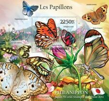 Butterflies IV Philanippon butterfly Comores 2011 s/s Mi. Bl.619 MNH #CM11104b