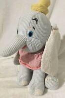 "12"" Disney Store Seersucker Blue Stripe Baby Dumbo Plush  Stuffed Plush Toy"