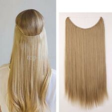 Straight Headband Wire Hair Extensions Secret Invisible One Piece Ash Blonde 20""