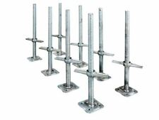 Adjustable 24 In. Leveling Jacks Galvanized Steel Scaffolding Base Plate 8 Pack